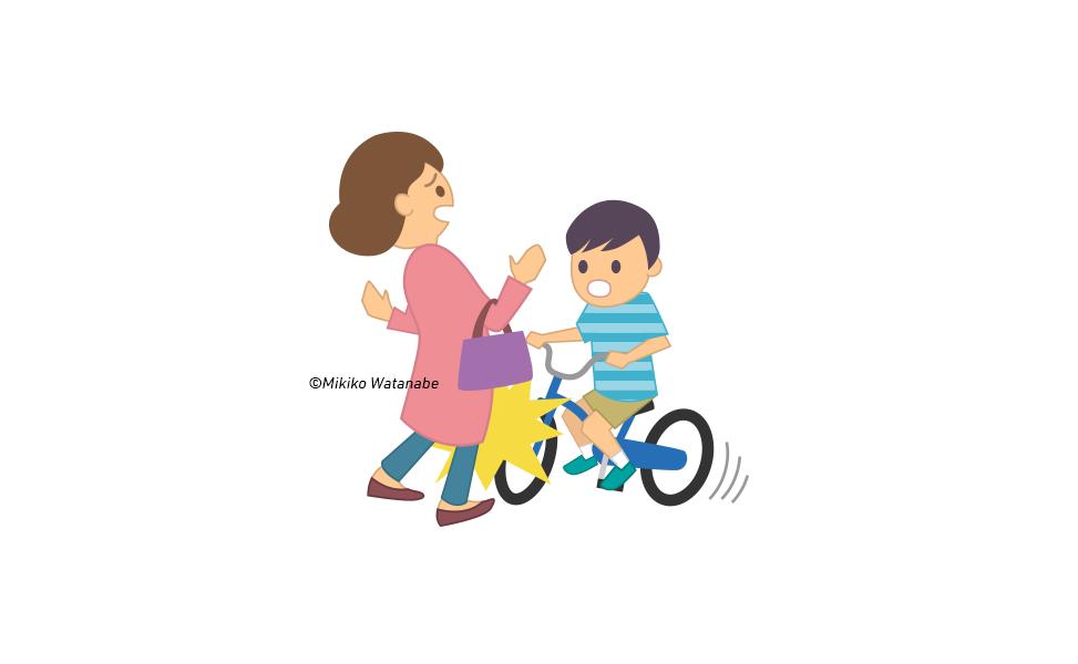 自転車に乗る子どもイラスト