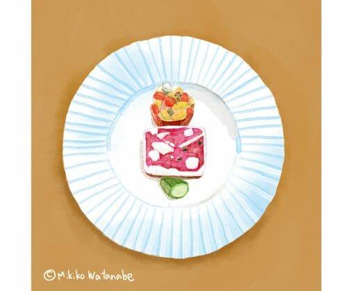 フランス料理のイラスト
